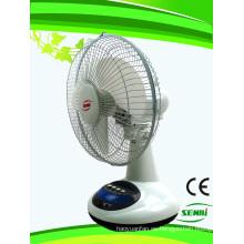 Ventilador recargable de 12 pulgadas Ventilador de ventilador de mesa solar