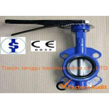 Ductile Iron Wafer Type Butterfly Valve Pneumatic With EPDM