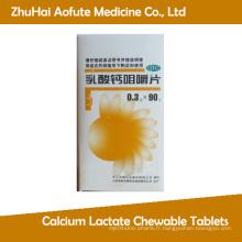 Comprimés à base de lactate de calcium certifiés GMP