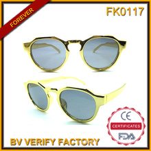 Fk0117 Round Golden Sunglasses for Kid