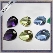 Muiti-Color Pear Shape Brilliant Cut Hot Sale Cubic Zirconia