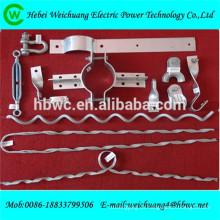 Línea aérea de alta resistencia que cabe el hardware de la línea del polo para la instalación del cable del adss