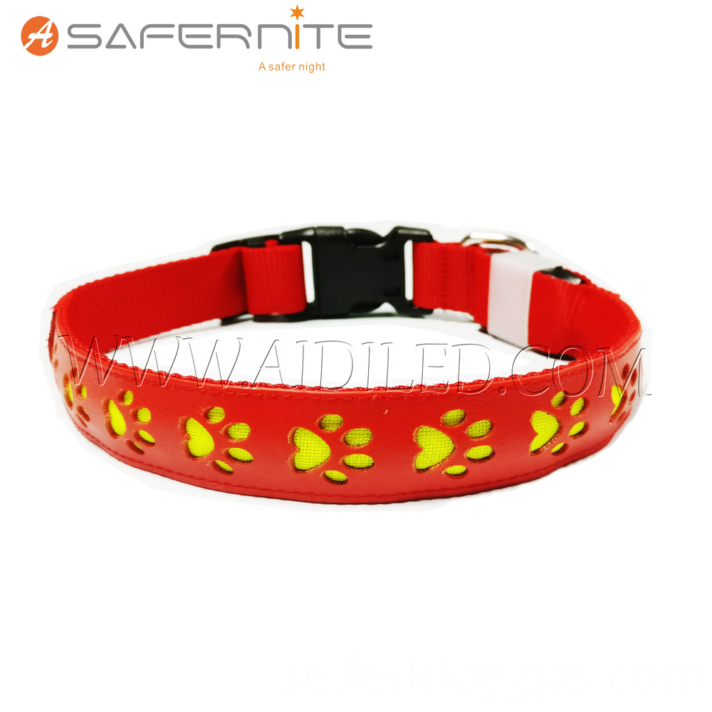Leather Light Up Collar