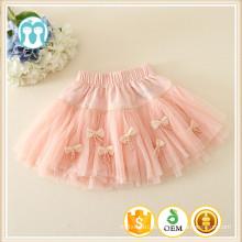 Novas crianças saia estilo casual arco design linda menina saia vestido garoto menina mini saia
