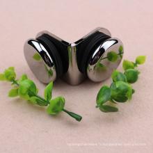 Fabriqué en Chine Double conection90 degrés bride de verre