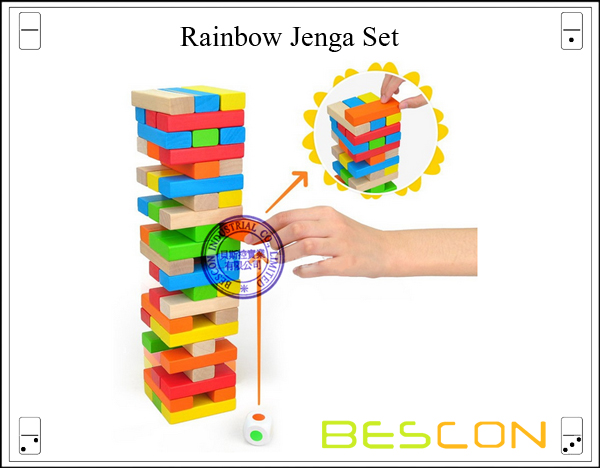 Rainbow Jenga Set-2