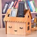 arte de madera mojado tenedor de tejido en forma de casa