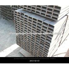 Seção oca de aço da tubulação EN10210 laminados a quente tubos quadrados sem costura Rectanglar e aço quadrado