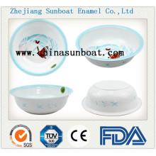 Lavatório durável personalizado do estilo chinês do esmalte