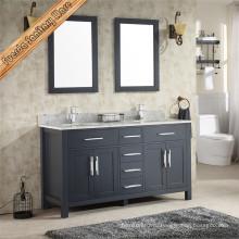 60-дюймовые оптовые мраморные современные современные шкафы для ванной комнаты