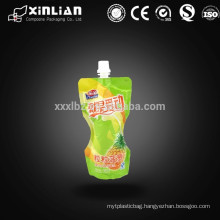 custom printing resealable stand up pouch for juice