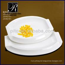 P & T Porzellanfabrik, Servierteller, weiße Teller