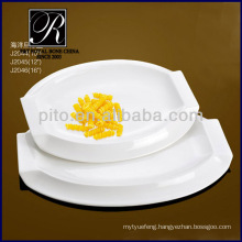 P&T porcelain factory, serving plates, white plates