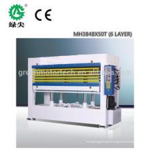 Máquina caliente de la prensa de la chapa de madera contrachapada de MH3834A * 100T * 2PCS para la venta con CE