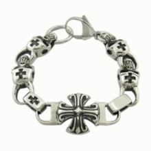 2015 Fashion Jewelry Stainless Steel ID Cross Men Bracelet
