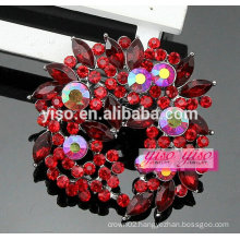special design custom wholesale floral crystal brooch buckle