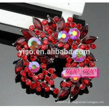 Design especial personalizado atacado fivela de broche de cristal floral