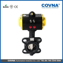 Wafer Type Pneumatic Butterfly Valve stainless steel cast iron material
