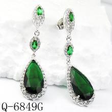 Neueste Stile Ohrringe 925 Silber Schmuck (Q-6849G)