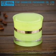 YJ-X30 30 g beau taille mince attrayante populaire 1 oz acrylique cosmétiques pots vides