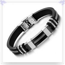 Moda jóias pulseira de borracha pulseira de silicone (lb201)