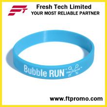 Изготовленный на заказ браслет силикона подарка промотирования с напечатанным логосом