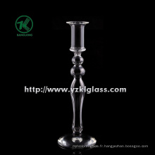 Porte-bougie en verre simple pour décoration intérieure par SGS