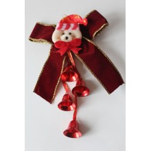 11.5 Burgundy Santa Jingle Hangings