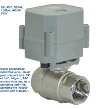 Tonhe 2 vías Ss316 Actuador eléctrico Válvula de bola de agua