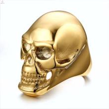 Venda por atacado popular de aço inoxidável em massa crânio anéis jóias