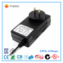ac to dc power supply power adaptor 24v 2a power adapter