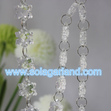 27MM colorati fiocco di neve perlina Garland all'ingrosso acrilico Crystal Christmas Garland