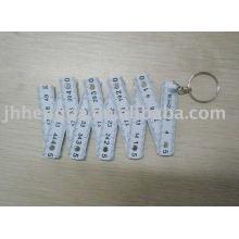 Règle en plastique pliable de 50 cm avec porte-clés