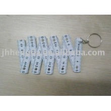 50cm 10folded plastic ruler with keychain
