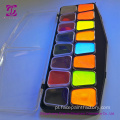 Fluorescent 12 Colour UV Face Body Paint Pallet