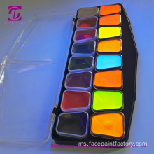 Fluorescent 12Colors UV Face Body Paint Pallet