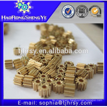 Small brass gears for clock gears
