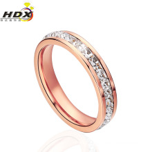 2015 Anillo de alta calidad de la joyería del anillo del acero inoxidable del diamante de la manera (hdx1029)
