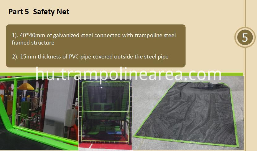 safety net of wall trampoline park