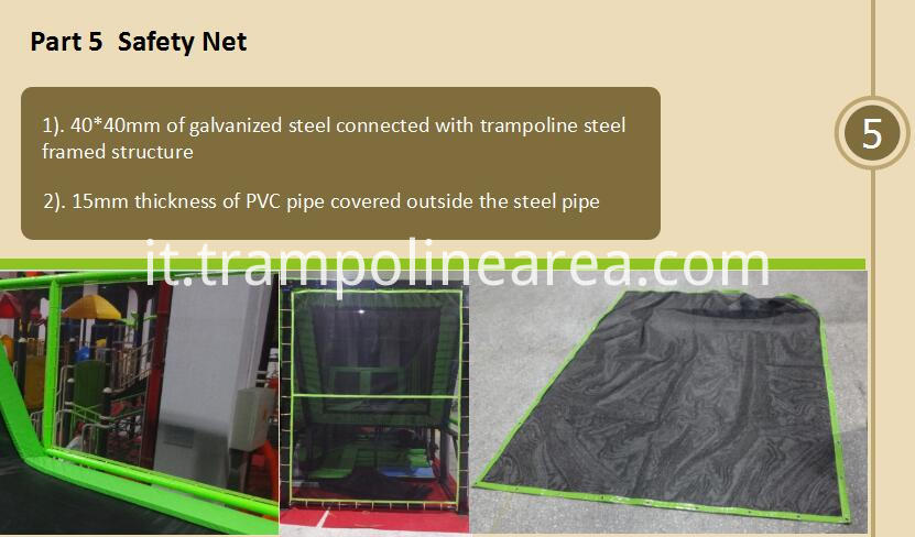 safety net of trampoline with enclosure