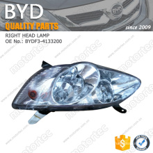 OE BYD f3 spare Parts right headlamp BYDF3-4133200