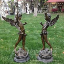 haute qualité petites statues d'ange en bronze en gros