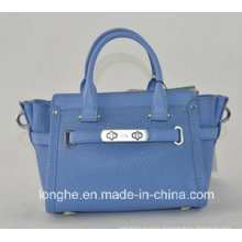 Small Exquisite 2015 New SGS Audited Leather Tote Bag (ZX10023)