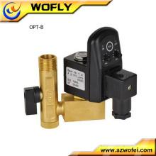 """Válvula de drenagem elétrica 1/4 """"1/4"""" com temporizador para compressor de ar"""
