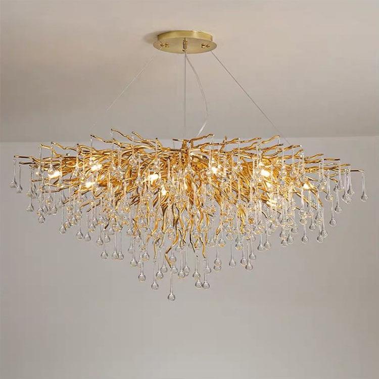 Beaded Crystal Metal ChandelierofCrystal Chandelier Lamp Shades
