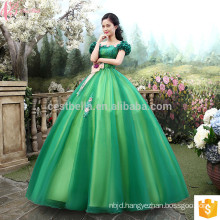 Alibaba Online Cinderella Royal Green Special Occasion Party Gowns Princess Style Real Simple Ball Gown Wedding Dress