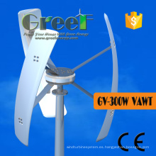 Turbina de viento vertical baja de Rpm 3kw 12VAC para el hogar