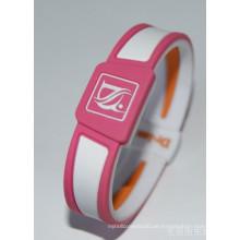 Heißes Förderung-Silikon-Armband mit kundengebundenem Logo
