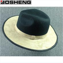 Chapeau en laine à brosse noire foncée