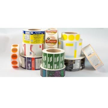 Etiqueta de etiqueta de PVC transparente personalizada em redondo
